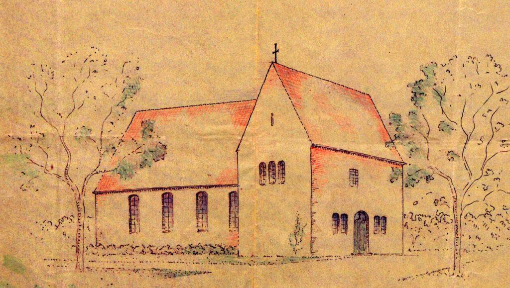 St. Marien - Architektenzeichung